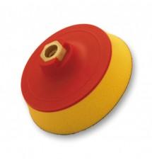 Flexipads talerz tarcza mocująca na rzep M14 soft żółta pianka 125mm (10398)