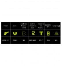 LARE LITE LR10-125 - maszyna polerska rotacyjna gwint M14 talerz 125 mm 1200W