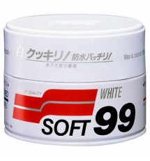 SOFT99 White Soft Wax - wosk do jasnych lakierów 350g